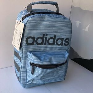 NWT ADIDAS Santiago lunch box silver insulated tote bag NEW! Blue gray